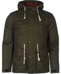 Zimní bunda pánská Lee Cooper Padded Parka Army Green
