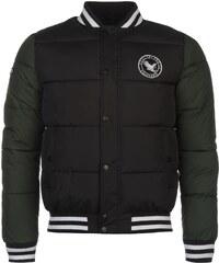 SoulCal Varsity Bomber Jacket pánské Black/Forest