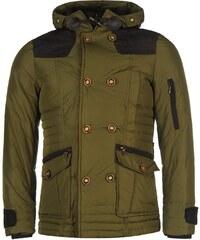 Zimní péřová bunda pánská Lee Cooper Cordu Army Green