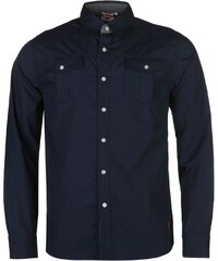 Lee Cooper Croft Long Sleeve Shirt pánské Indigo