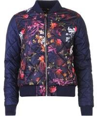 Lee Cooper All Over Print Bomber Jacket dámské Dark Floral