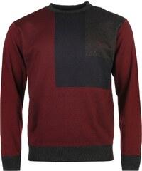 Pierre Cardin Block Knit Jumper pánské Burgundy/Navy