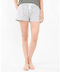 Short homewear rayé blanc, Femme, Taille L -PIMKIE- MODE FEMME