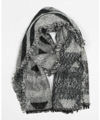 Echarpe plaid noir, Femme, Taille 00 -PIMKIE- MODE FEMME