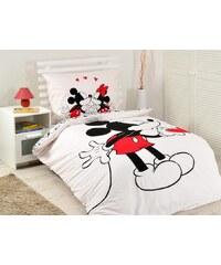 Jerry Fabrics JerryFabrics povlečení Mickey Hearts 2016 bavlna 140x200 70x90