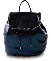 Dámský menší modrý lesklý batoh Marlen 11013