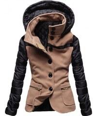 Dámský kabát Alecta hnědý - hnědá