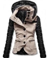 Dámský kabát Alecta béžový - béžová