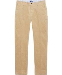 GANT Pantalon Habillé Tailored Regular En Velours Côtelé - Dark Khaki