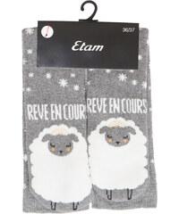 Chaussettes hautes imprimées mouton Etam
