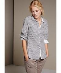 COMMA Klassische Hemdbluse mit schönem Minimalmuster