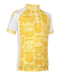 Dětský cyklodres Alisy Owls kids basic yellow 12-14