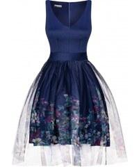 MOSQUITO Dámské šaty Za oponou květin modré