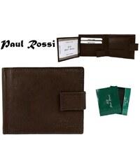 Hnědá pánská peněženka Paul Rossi