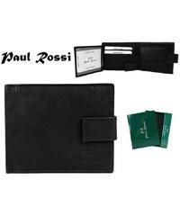 Pánská peněženka černé barvy PAUL ROSSI