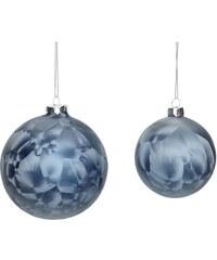 Hübsch Vánoční baňka Blue frost Menší