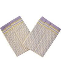 Svitap Utěrka Bambus 50x70 Kostka malá fialovo žlutá balení 3 ks
