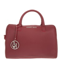 Armani Jeans Sacs portés main, Eco Synthetic Saffiano Bowling Bag Bordeaux en rouge