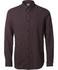 Selected SHHone Gingham Brushed Langarmhemd fude/black