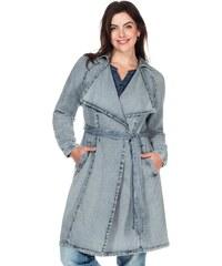 Große Größen: sheego Trend Jeans-Trench mit Bindeband, light blue denim, Gr.40-58
