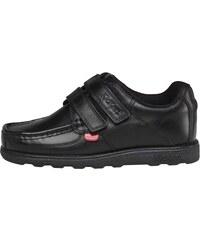 Kickers Junior Fragma Double Strap Leather Shoe Black