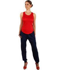 TopMode Volné bavlněné kalhoty modrá