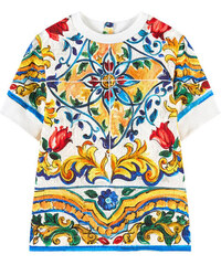 Dolce & Gabbana Sweatshirt aus Seidenbrokat Maiolica