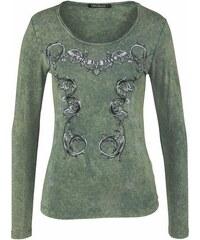Cipo & Baxx Damen Langarmshirt grün L (40),M (38),S (36),XS (34)