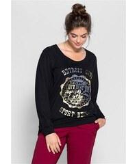 Damen Casual Sweatshirt mit Frontdruck SHEEGO CASUAL schwarz 40/42,44/46,48/50,52/54,56/58