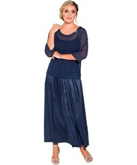 SHEEGO STYLE Damen Style Plissee-Abendrock blau 20,21,22,23,24,25,26,27,28,29