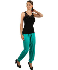 YooY Volné bavlněné kalhoty zelená