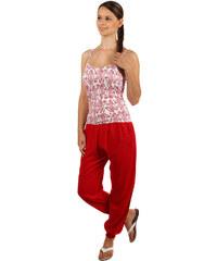 YooY Volné bavlněné kalhoty červená