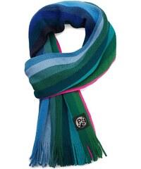 PAUL SMITH PS Schal aus Wolle Colorblock Stripes Blau Grün