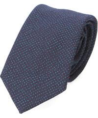 PAUL SMITH PS Blaue Krawatte mit Mini-Punktmuster