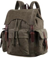 Delton Bags Plátěný batoh ve vojenské zelené barvě Laguna H9-9-8027