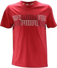 Lesara Puma Kinder-T-Shirt mit Print - Dunkelrot - 128