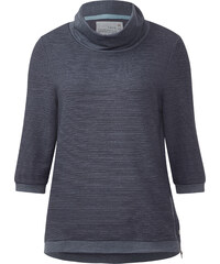 Cecil Sweatshirt mit Volumenkragen - stripy denim melange, Herren