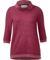 Cecil Sweatshirt mit Volumenkragen - stripy red melange, Herren