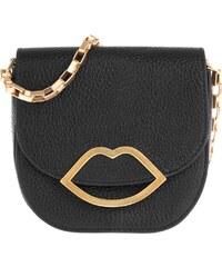 Lulu Guinness Sacs à Bandoulière, Amy Small Grainy Leather Crossbody Bag Black en noir