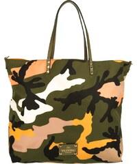 Valentino Sacs à Bandoulière, Rockstud Reversible Shopper Camouflage/Orange en orange, vert