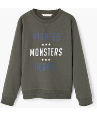 MANGO KIDS Baumwoll-Sweatshirt Mit Aufschrift