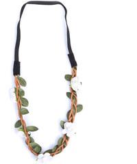 Lesara Haarband im Blüten- & Zweig-Design - Weiß