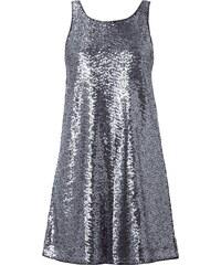Tom Tailor Denim Kleid mit Pailletten-Besatz und Rückenausschnitt