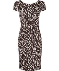 Laurel Kleid mit gelegten Falten im Zebra-Look