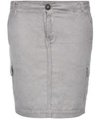 Šedá džínová sukně s kapsami na bocích|L Soccx 473989