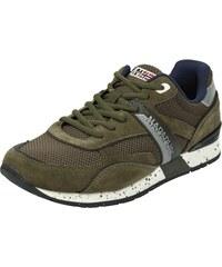 Napapijri Sneakers mit Kontrastbesatz aus Veloursleder