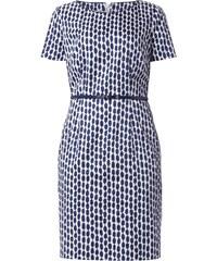 Apanage Kleid mit Taillengürtel und Allover-Muster