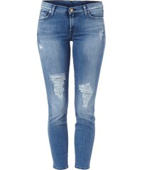 7 for all mankind Skinny Fit Jeans im Destroyed-Look - verkürzt