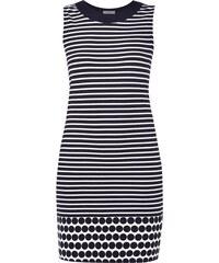 Montego Jerseykleid mit Streifen- und Punktemuster