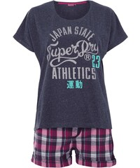 Superdry Pyjama mit glitzerndem Logo-Print